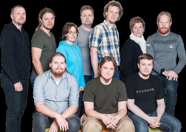 Buildercomin ohjelmistokehitystiimi