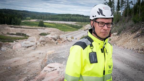 Väyläviraston Jarmo Niskanen Kirri-Tikkakoski -infrahankkeen työmaalla
